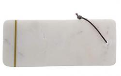 Bloomingville skærebræt i hvid marmor