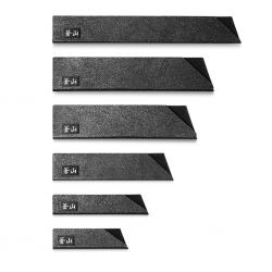 Cangshan Knivhylster / knivbeskytter / skede - sæt á 6 dele - Sort