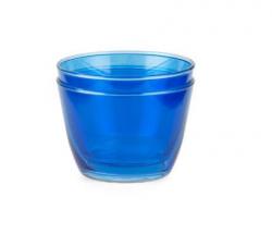 Double up glas - Blå - 2 stk
