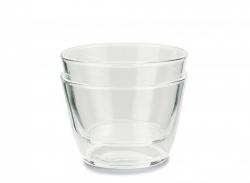 Double up glas - Klar - 2 stk