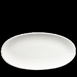 Flot hvid oval tallerken fra Churchill