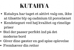 KUTAHYA - ENT - Tallerken/serveringsfad, oval, 34 cm