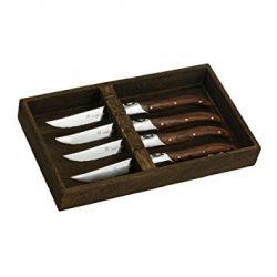 Legnoart SK5 steakknive - sæt á 4 stk. i flot trææske