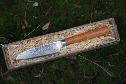 Santoku kniv 12 cm. Damascus, 67 lag - Early Nature