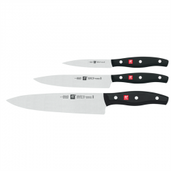 Zwilling Twin Pollux - Knivsæt: Urtekniv 10 cm., forskærerkniv 16 cm., kokkekniv 20 cm.